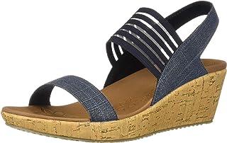 3c30628ca924 Amazon.com  Skechers - Platforms   Wedges   Sandals  Clothing