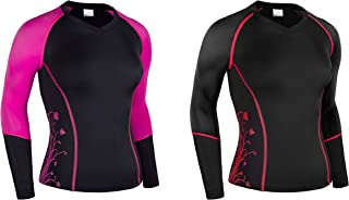 Zimco Elite Women Compression Shirt Running Long Jersey Ladies Skin Top 3092