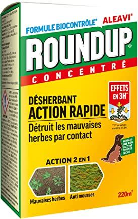 RNDUP Roundup Désherbant Total Puissant Roundup Concentré Jardin 500ML
