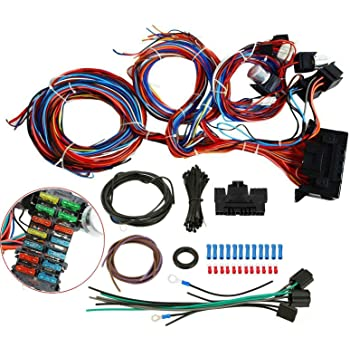 amazon.com: 20 circuit wiring wire harness kit 12v for mini fuse chev ford  hotrods universal x-long wires new: automotive  amazon.com
