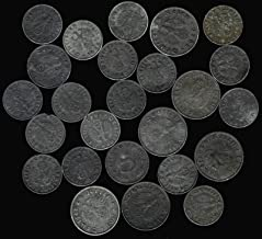 25 1940-1944 Very Old Rare Antique Vintage WWII Hitler Nazi Germany Swastika & War Eagle Collectible Coin Lot Relic Collection
