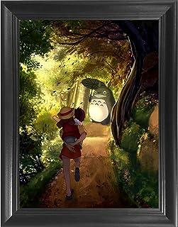 My Neighbor Totoro - Hayao Miyazaki Japanese Anime 3D Poster Wall Art Decor Framed Print   14.5x18.5   Lenticular Posters ...