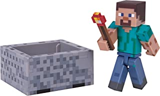 Minecraft Steve with Minecart Figure Pack