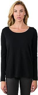 Women's 100% Cashmere Long Sleeve Boatneck High Low Dolman Sweater