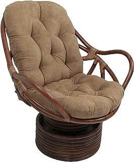 Blazing Needles Solid Microsuede Swivel Rocker Chair Cushion, 48