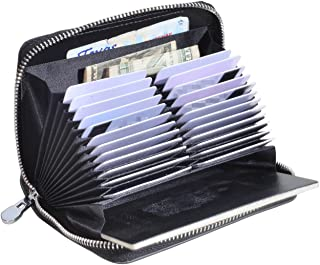 Genuine Leather Credit Card Holder Case RFID Travel Passport Wallet