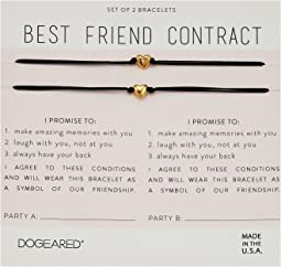 Best Friend Contract, Set of 2 Heart Bracelets