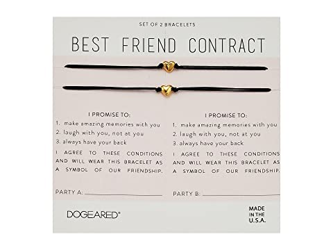 Dogeared best friend contract set of 2 heart bracelets at zappos main thecheapjerseys Choice Image