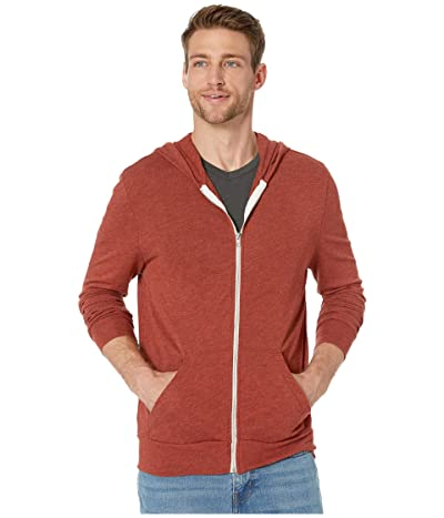 Alternative L/S Zip Hoodie (Eco True Sedona Red) Men