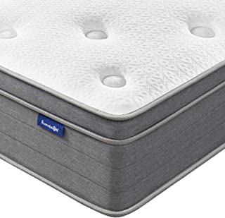 Queen Mattress, Sweetnight 12 Inch Plush Pillow Top Queen Size Mattress-Individually Pocket Spring Hybrid Mattress with CertiPUR-US Certified Gel Memory Foam for Motion Isolation & Cooler Sleep