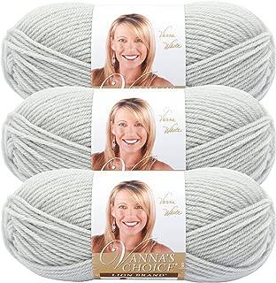 (3 Pack) Lion Brand Yarn 860-150 Vanna's Choice Yarn, Pale Grey