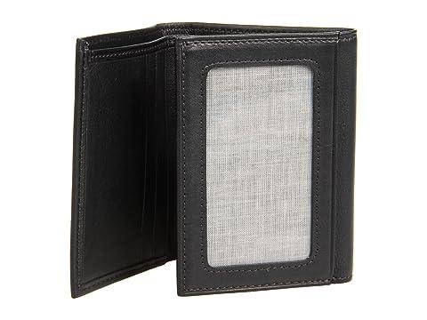 tríptico negro Vitello Bosca Colección Monedero Nappa cuero de aRwBI80q