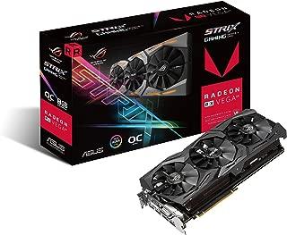 ASUS Radeon RX Vega 64 8GB Overclocked 2048-Bit HBM2 PCI Express 3.0 HDCP Ready Video Card (STRIX-RXVEGA64-O8G-GAMING) (Renewed)
