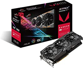 ASUS Radeon RX Vega 64 8GB Overclocked 2048-Bit HBM2 PCI Express 3.0 HDCP Ready Video Card (STRIX-RXVEGA64-O8G-GAMING) (Re...