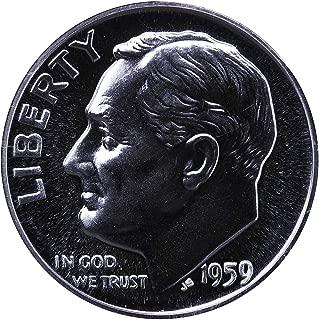1959 PROOF Roosevelt Silver Dime GEM PROOF US Mint