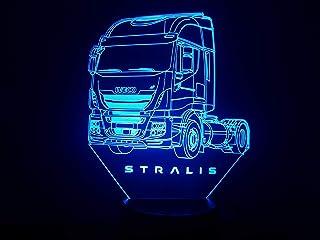IVECO STRALIS, Lampada illusione 3D con LED - 7 colori.