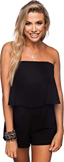 BuddyLove Women's Off The Shoulder Flowy Romper Andrews Game Day Collection
