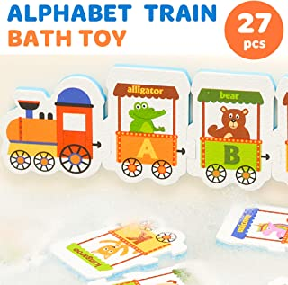 Toy Pal | Foam Bath Toys |100% Non Toxic Foam Bathtub Letters and Animals Set | Educational Bath Toys for Toddlers 3 4 Year Old Boys and Girls