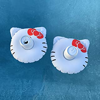 #GETFLOATY Inflatable Coasters, Inflatable Drink Holder, Inflatable Pool Cup, Hello Kitty Cup Holder, Float Your Hot Tub Drinks in Style (2 Pack)