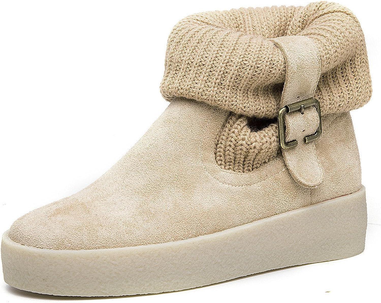 shoesmaker's heart Belt Buckle Boots Short Boots Winter Warmth New Belt Buckle Fashion Tide