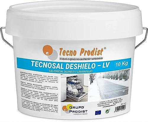 TECNOSAL DESHIELO (10 Kg) sal especial para derretir hielo y nieve en invierno, descongelación ideal para caminos, en...