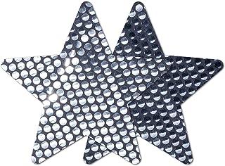 Nippies Style Gunmetal Sequin Star Waterproof Self Adhesive Nipple Cover Pasties