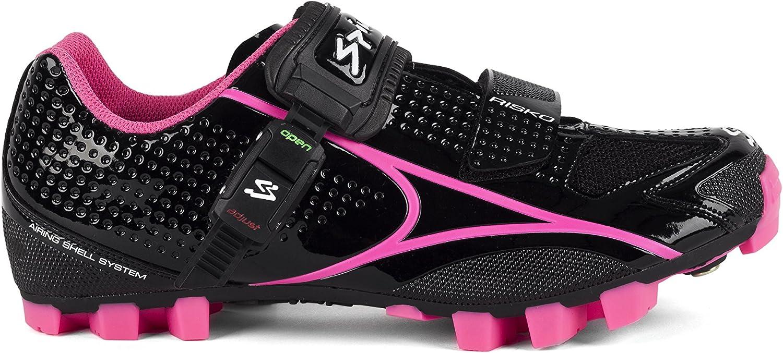 Spiuk Risko MTB - Unisex cycling shoes, colour black fuchsia, size 46