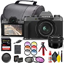 $746 » FUJIFILM X-T200 Mirrorless Digital Camera with 15-45mm Lens (Dark Silver) (16645864) + Graduated Color Filter Kit + SanDisk 64GB Extreme PRO Card + Deluxe Paded Case + 3 Piece Pro Filter Kit + More
