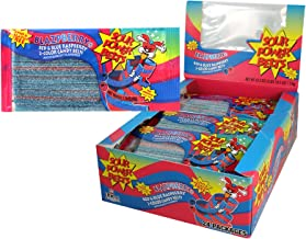 Sour Power Belt Candy Packages, Blazpberry Red and Blue Raspberry, 42.3 Ounce