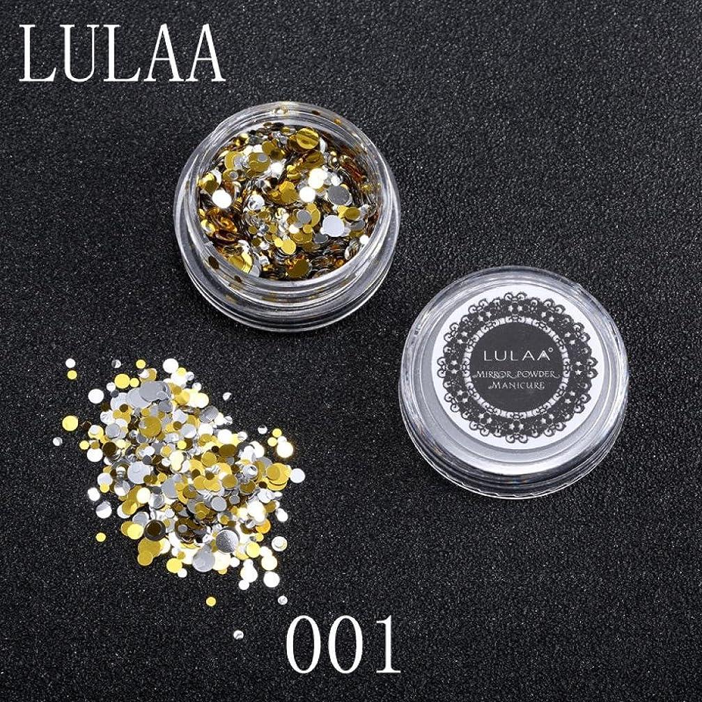 お世話になった登る文明化SakuraBest Lulaa 1 Box Shiny Round Sequins Colorful Nail Art Glitter Tips for Nail Decoration (A)