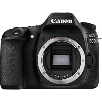 Canon Digital SLR Camera Body [EOS 80D] with 24.2 Megapixel (APS-C) CMOS Sensor and Dual Pixel CMOS AF - Black