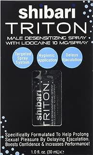 Shibari Triton Spray, Men's Desensitizing Spray, with Maximum Strength Lidocaine for Prolonged Intimacy and Performance