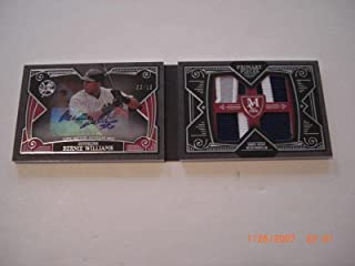 Bernie Williams 2016 Topps Pieces Quad Game Used Jersey Auto 3/10 Signed Card - Baseball Slabbed Autographed Cards