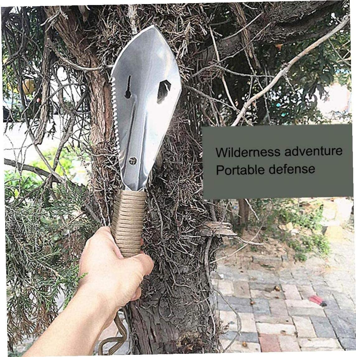 Mini Garden Spade Digging Tool Hand Trowel Spade Stainless Steel Portable for Gardening Farming Camping Black Gardening Trowels