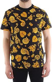 Couture Men t-Shirt Gold Baroque Nero