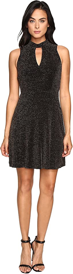 Jessica Simpson - Lurex Gliter Dress with Mock Neck