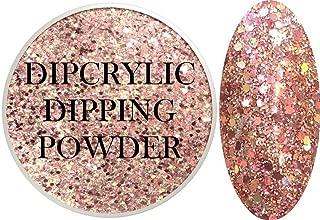 SHEBA NAILS Dipcrylic GLITTER Dip Dipping Powder Heavy Metal GLITTER ROSE GOLD - 1oz Jar