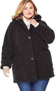 Women's Plus Size Hooded Berber Fleece Jacket