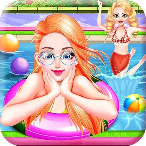 Spaß Schwimmbad Partei mit Sonne & Bräunen - Fantasy-Spiel zu genießen und schlagen die Sommerhitze für alle Kinder!