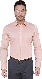 Goose Select 100% Pure Cotton Full Sleeves Regular Fit Sandal Formal Shirt for Men