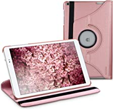 kwmobile 360° Case for Huawei MediaPad T1 10 - PU Leather Protective Tablet Cover with Stand Function - Rose Gold