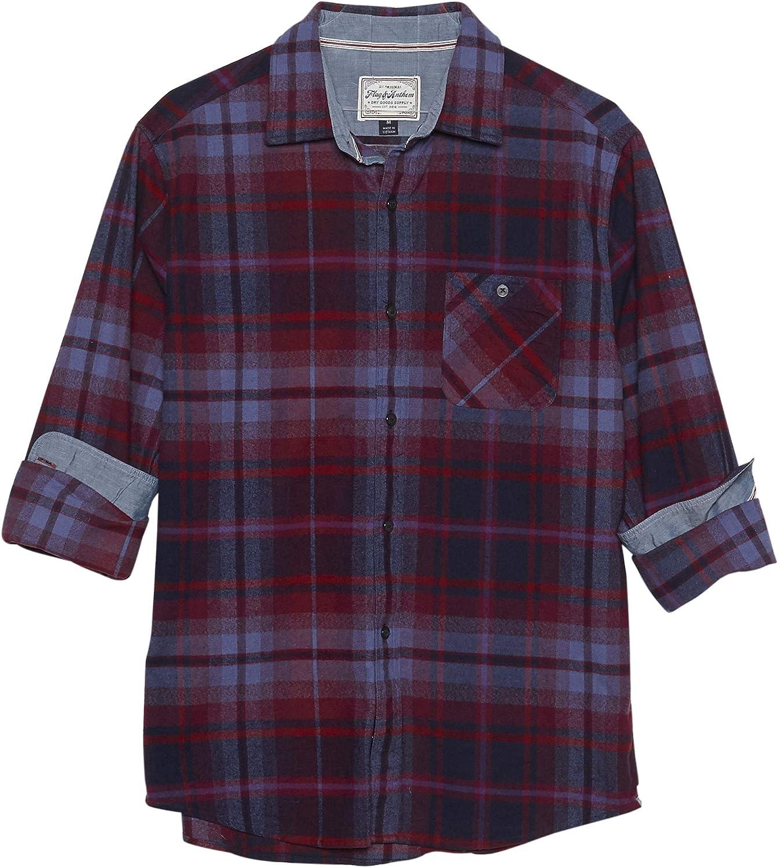 Flag Anthem Red Blue Plaid Flannel Ferrysburg Max 65% OFF 70% OFF Outlet Shirt Large