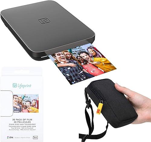 2021 Lifeprint 3x4.5 Portable Photo and Video Printer (Black) Travel high quality sale Kit sale
