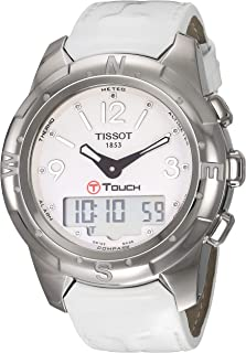 Tissot Womens Quartz Watch, Analog-Digital Display and Leather Strap T0472204601600