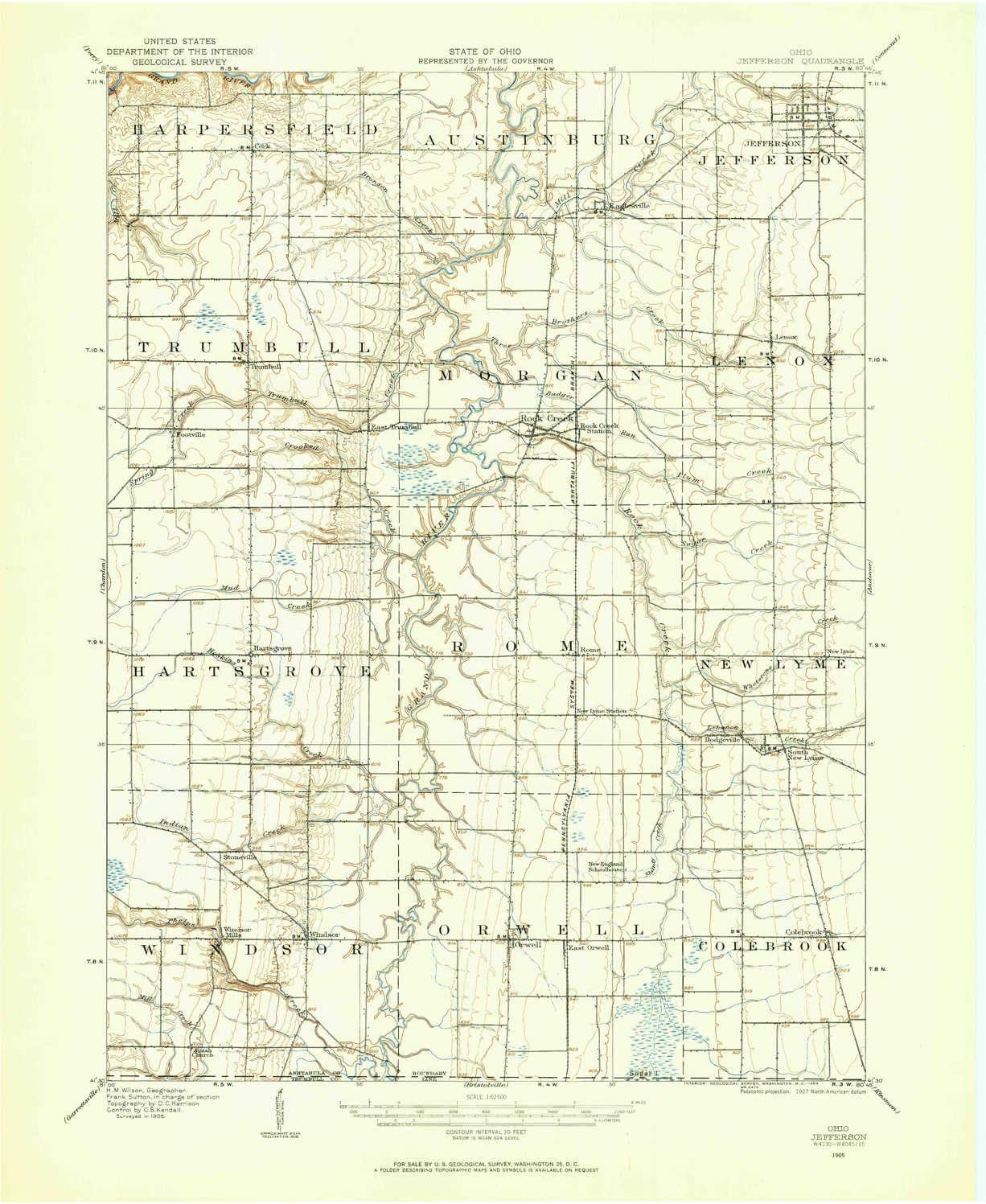 YellowMaps Jefferson Manufacturer direct delivery OH topo map Minute 1:62500 X 15 Scale Now free shipping