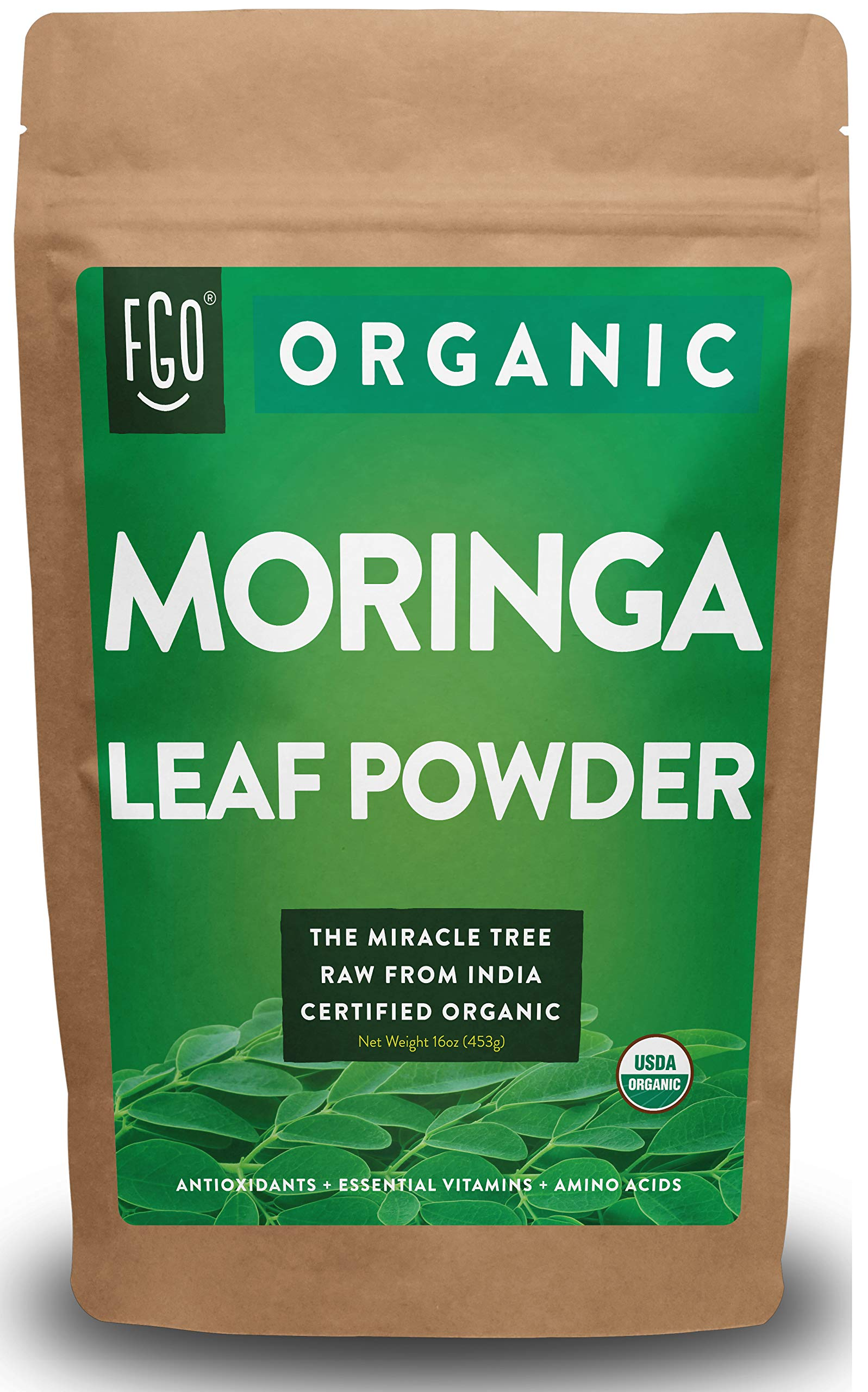 Organic Moringa Leaf Powder Resealable