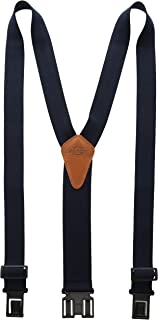 Heavy Duty Clip Suspenders - Men's Adjustable Y Back Straps with Clips for Work Pants