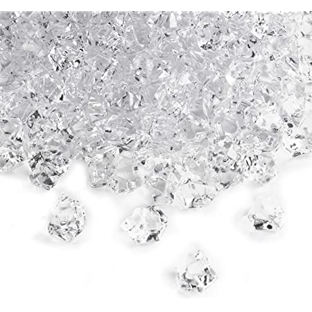 100 Pcs Clear Acrylic Ice Cube Table Scatters Party Flower Pot Christmas