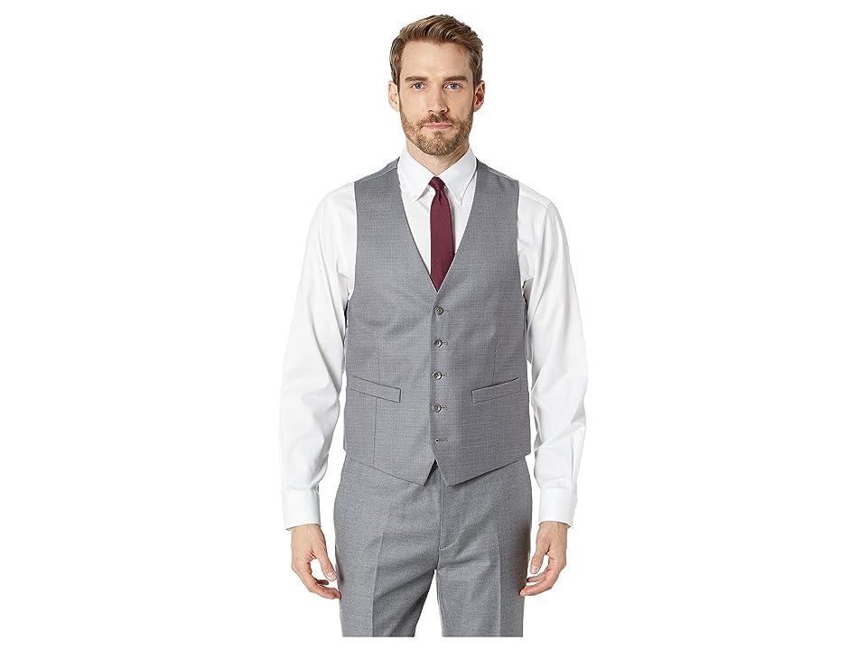 Kenneth Cole Reaction Techni-Cole Stretch Suit Separate Vest (Light Grey) Men