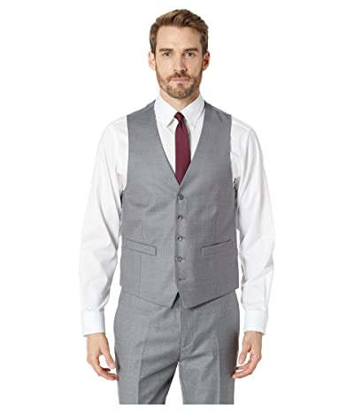 Kenneth Cole Reaction Techni-Cole Stretch Suit Separate Vest (Light Grey) Men